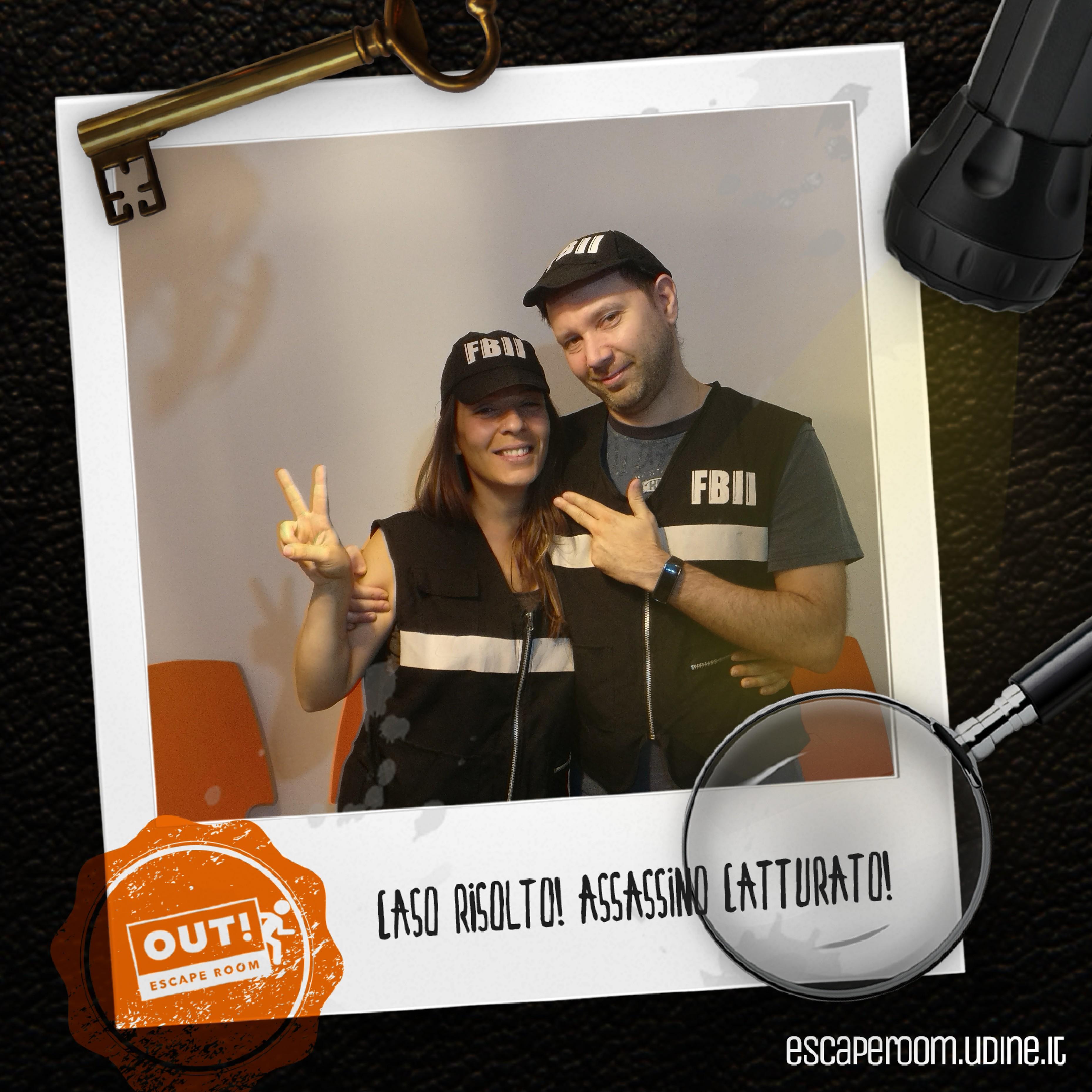 Squadra francesca di blasi carlo pelizzari - OUT! Escape Room a Udine